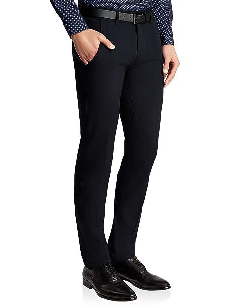 oodji Ultra Hombre Pantalones de Algodón con Cinturón  Amazon.es  Ropa y  accesorios ff48aa374f9