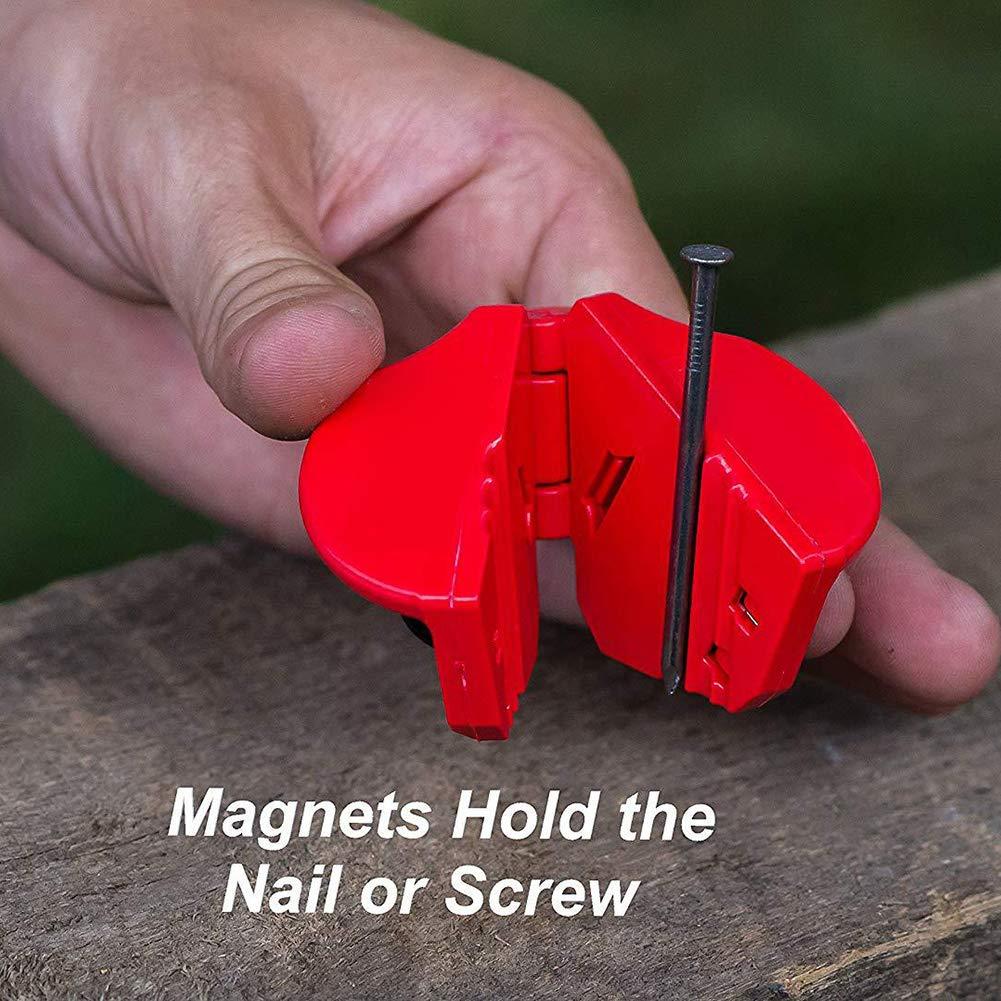 Paquete de 2 mini clavos de seguridad para acabado de clavos peque/ños tornillos grapas