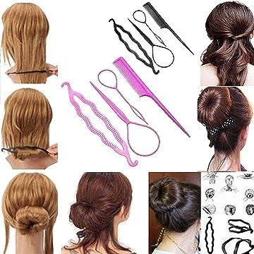 4PCS Hair Styling Set Clip Bun Maker Braid Hair Ponytail Tool Hair Accessory