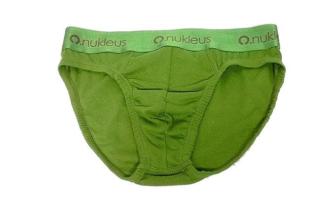 Nukleus Hombre Mini Breve Premium 100% de algodón orgánico Comodidad Plain Verde Verde Claro XX