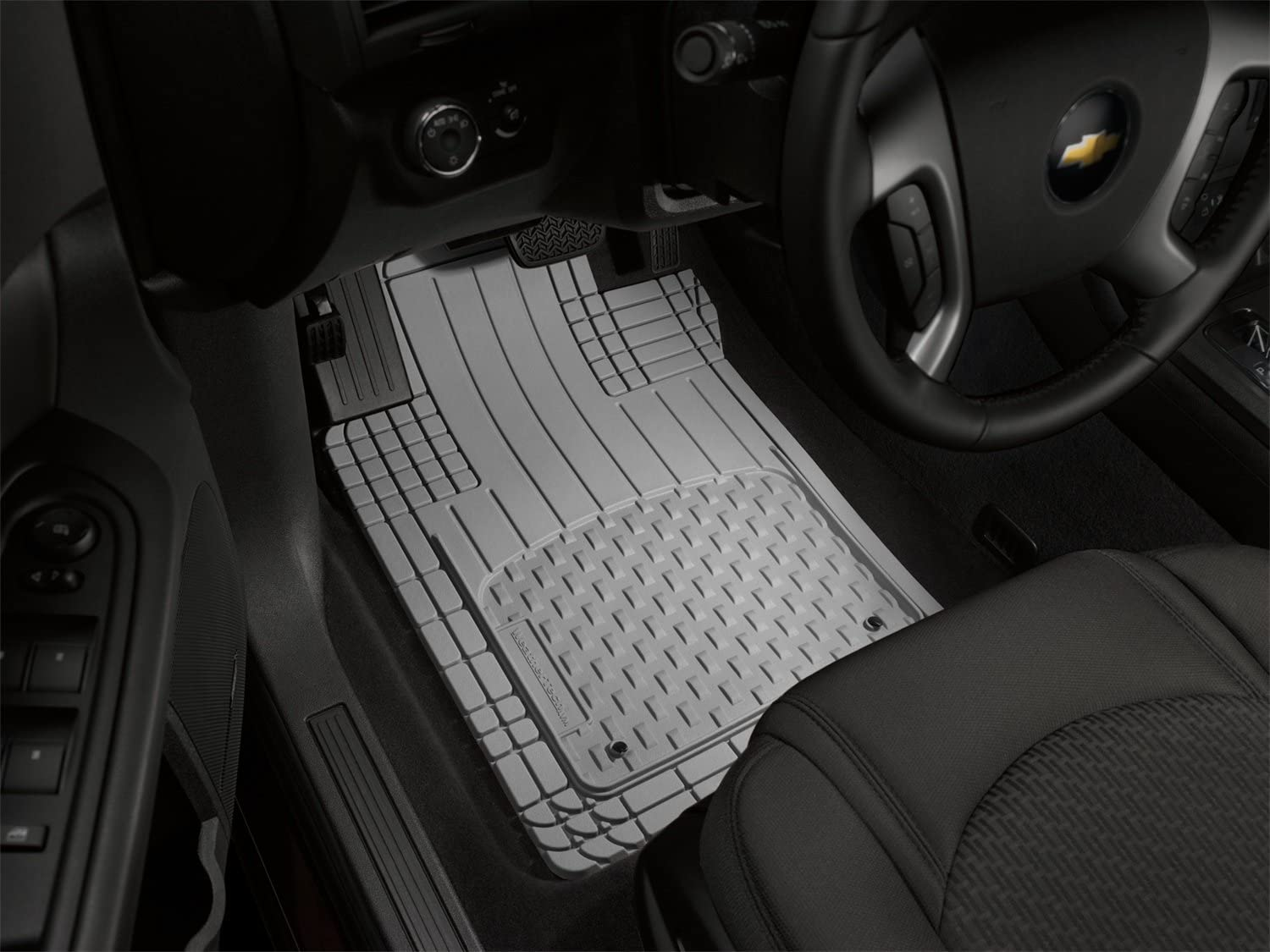 Premium Connected Essentials 5030865 Tailored Heavy Duty Custom Fit Car Mats Black with Grey Trim