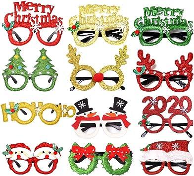 Festive Christmas Fun Party Glasses Novelty Fancy Dress Costume Santa Reindeer