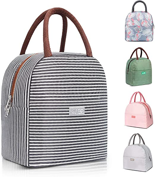 Small Portable Travel Lunchbox Women Insulated Lunch Bag for Men Lightweight Tote Cooler Thermal Lunch Kit Reusable Eco-Friendly Lunch Pack Organizer for Work//School//Picnic Kids