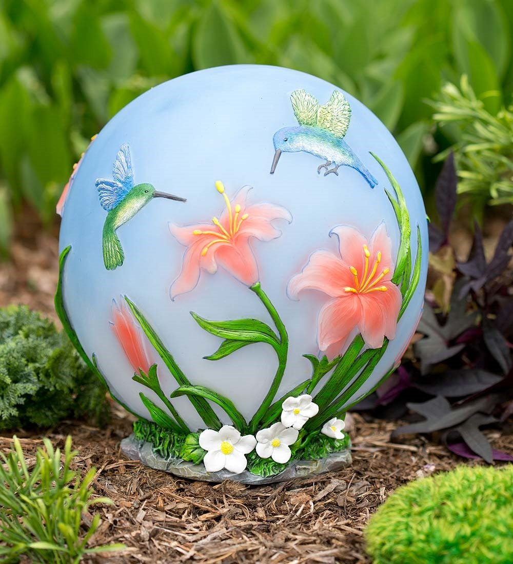 Color-Changing Hummingbird Globe by Wind & Weather