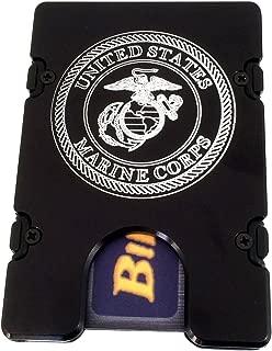 product image for HMC Billet United States Marines RFID Protection Credit Card Holder Aluminum Wallet, Black
