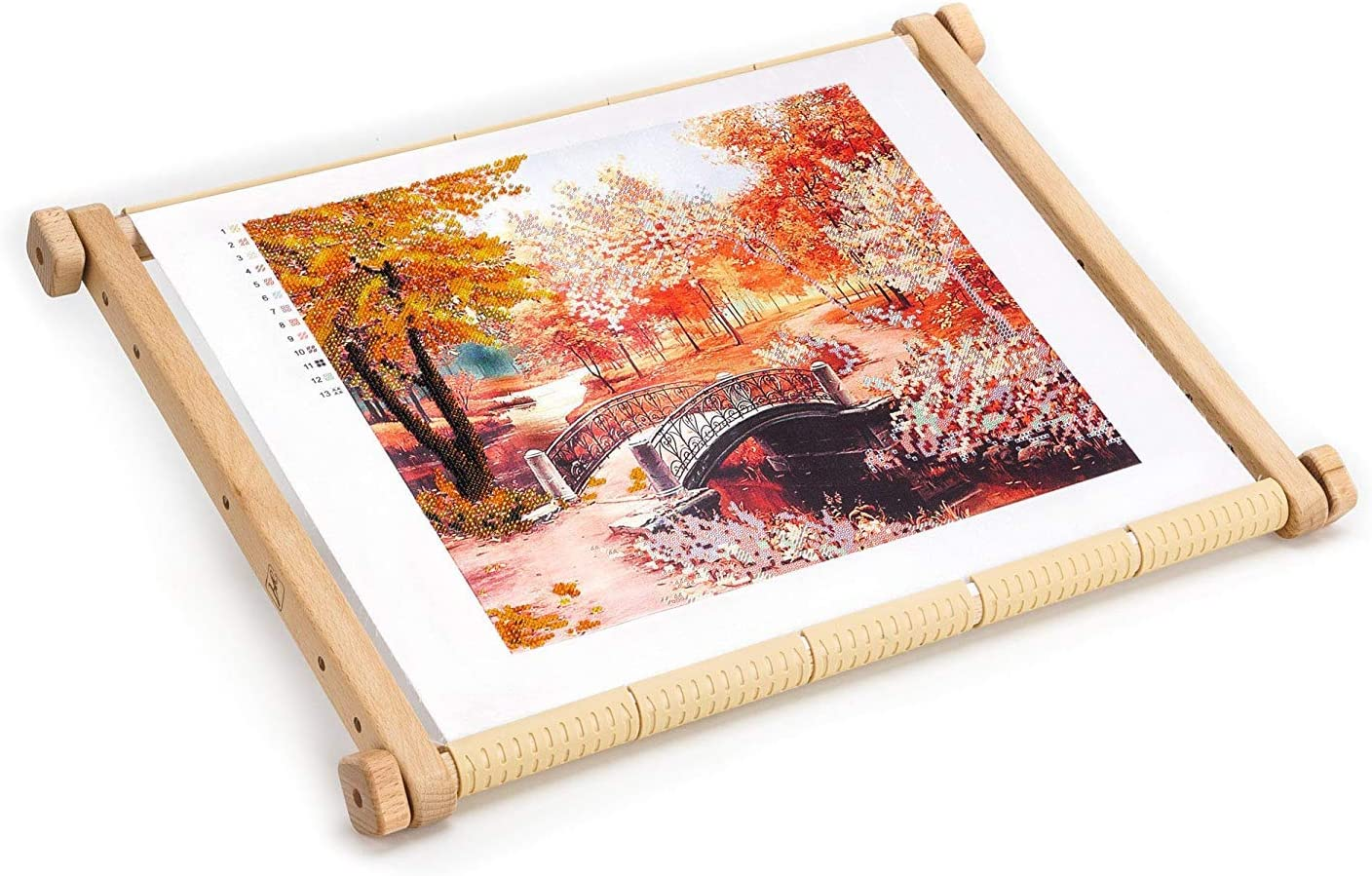 """9/"""" x 15/"""" Wooden Scroll Frame Needlework Cross Stitch Needlepoint Embroidery"""