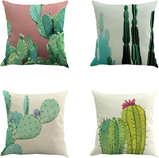 Pycat St Patrick/'s Day Green Throw Pillow Cover Heart of The Lucky Clove 18 x 18 for Couch Farmhouse Decorations Home D/écor Decorative Pillowcase Cotton Linen Cushion Case for Sofa