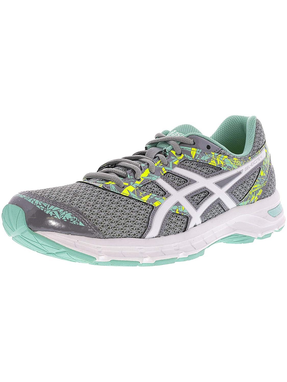 Mid gris blanc Ice vert 38 EU ASICS Gel-Excite 4, Chaussures de Course pour entraîneHommest sur Route Femme