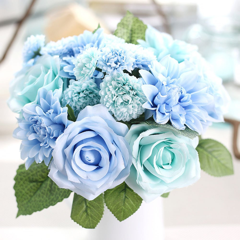 Blue Bouquet For Wedding Amazon