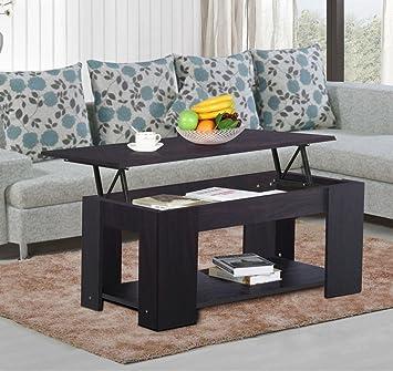 Amazoncom New Espresso Modern Wood Lift Top Coffee End Table