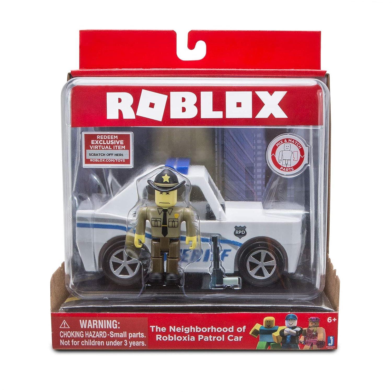 Amazoncom Roblox The Neighborhood Of Robloxia Patrol Car Vehicle