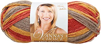 Lion Brand Yarn 860-203P Vanna's Choice Yarn, Autumn Print