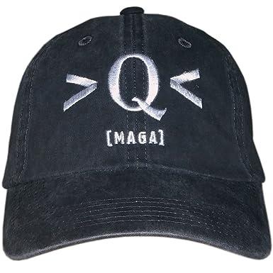 Treefrogg Apparel Q MAGA Distressed Hat New Era Structured Cap - QAnon Q  Anonymous - Black 0308f3b0016