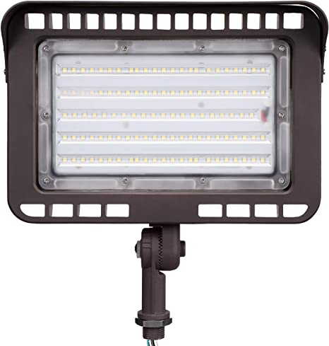 Leonlite Led Outdoor Knuckle Mount Flood Light 100w 1000w Eqv 5000k Daylight 11 000lm Super Bright Wall Washer Security Light Cri90 Ip65 Waterproof For Yard Parking Lot Advertising Board Amazon Com
