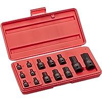 NEIKO 01141B Impact Grade Allen Bit Socket Set, Metric Hex Driver, 2.5mm to 19mm | 14-Piece Set, 1/4€, 3/8€ and 1/2″ Drive, Cr-Mo, One-Piece Construction