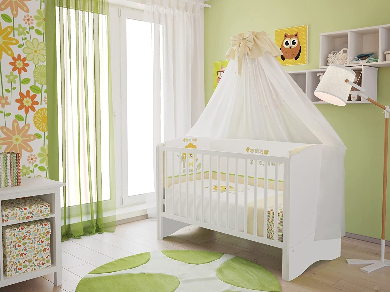 Polini Kids Kinderbett Babybett Set umbaubar zum Juniorbett mit ...