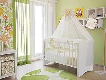 Polini kids kinderbett babybett set umbaubar zum juniorbett mit