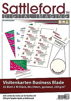 Sattleford Drucker Papiere 320 Visitenkarten Creme Strukturiert Inkjet Laser 230 G M Visitenkarten Papier Für Drucker