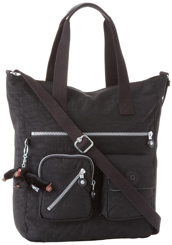 Kipling Johanna Tote Bag (One Size, Black (001) / Black/Black) by Kipling