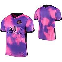 MILAOSHU Camiseta de Fútbol,Rosa Púrpura Camiseta de Fútbol,Uniformes de Fútbol para Adultos y Niños Camiseta Corta…