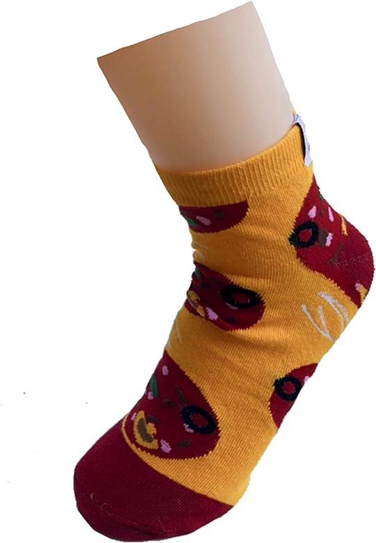 Divertidos calcetines de pizza en forma de pizza, multicolor, talla 41-46 EU: Amazon.es: Ropa y accesorios