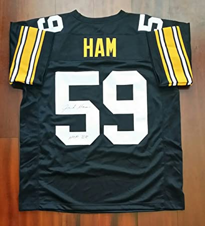 6627178ee40 Jack Ham Autographed Signed Jersey Pittsburgh Steelers JSA at ...