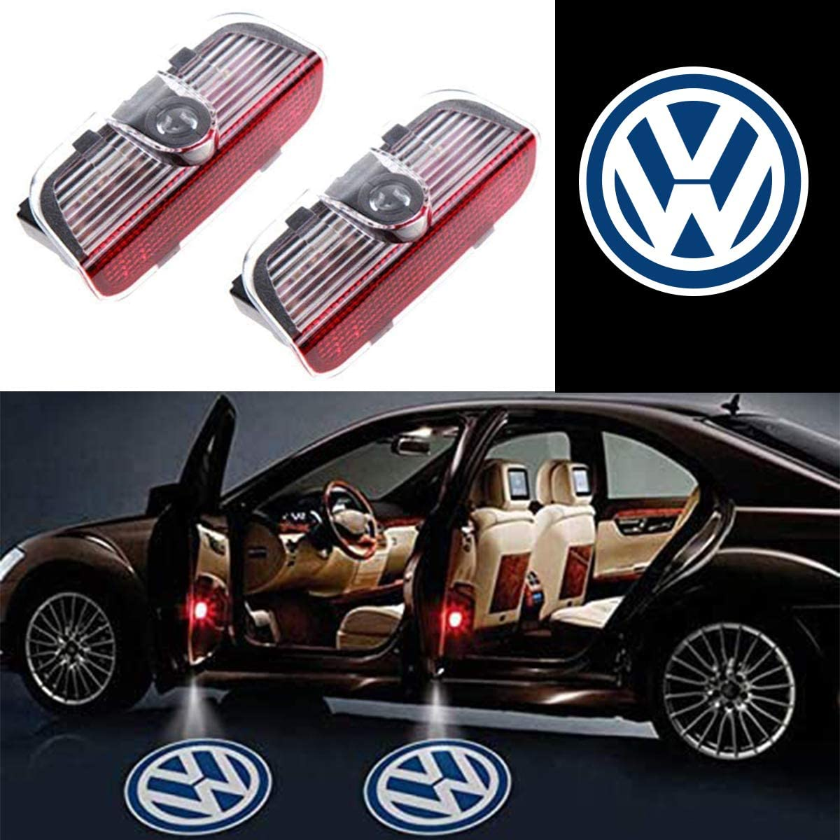 for volkswagen Ephvan 2 Pcs Wireless Car Door Led Welcome Laser Projector Logo Light Ghost Shadow Light Lamp Logos