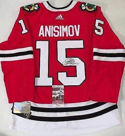buy online 7eb20 8792e Artem Anisimov Autographed Jersey - Adidas Adizero - JSA ...