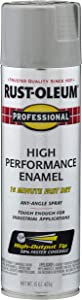 Rust-Oleum 7581838 Professional High Performance Enamel Spray Paint, 15 oz, Light Machine Gray