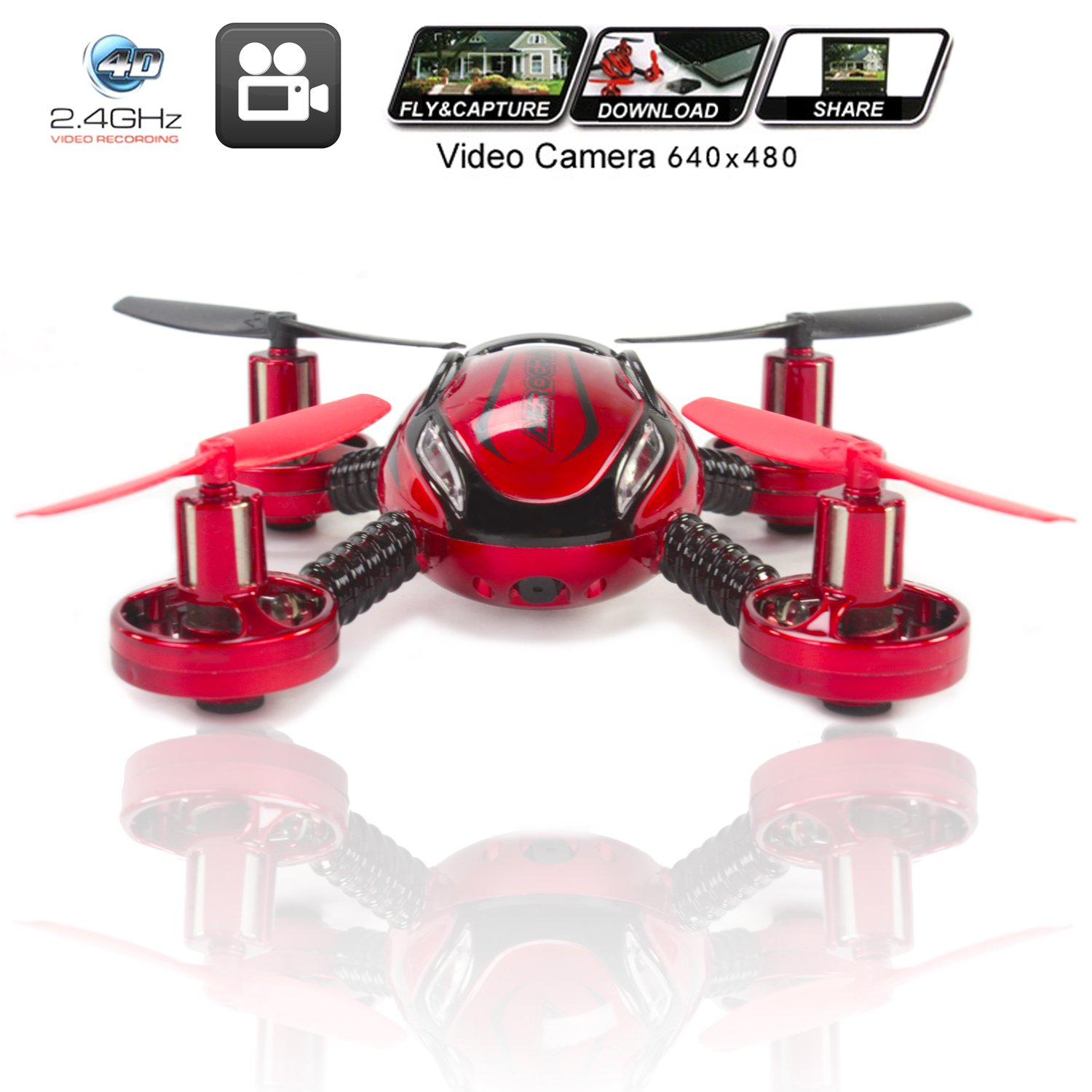 KiiToys Drone with Camera Quadcopter JXD 392 - Mini Drones - Built in  Camera, Easy Flight Control, Stable Landing, Fast Response Remote, 4GB SD  Card &