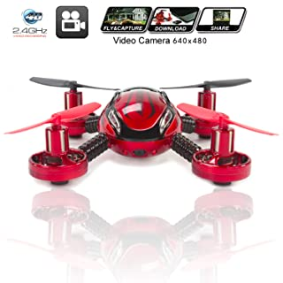 Drone with Camera Quadcopter JXD 392 - Best Mini Drones on sale - Built in Camera, Easy Flight Control, Stable Landing, Fast Response Remote, 4GB SD Card & Reader - KiiToys® USA Warranty