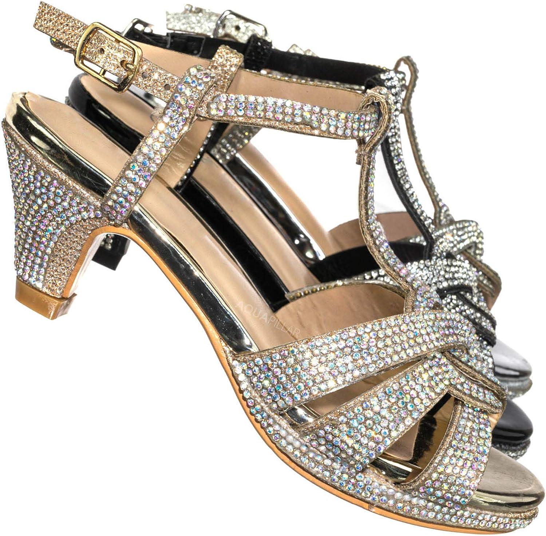 Aquapillar Baby Toddler Ballet Rhinestone Flats Kids Bling Crystal Glitter Shoes