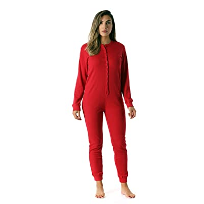 #followme Women's Thermal Henley Onesie Union Suit at Women's Clothing store