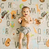 """Toddleroo by North States 71"""" x 71"""" Folding ABC Play Mat - Extra large, designed to fit 6 panel or 8 panel Superyards. Foldab"""