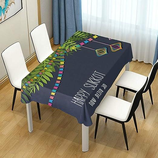 DXG1 Happy Sukkot Mantel de Mesa para Comedor, decoración para ...