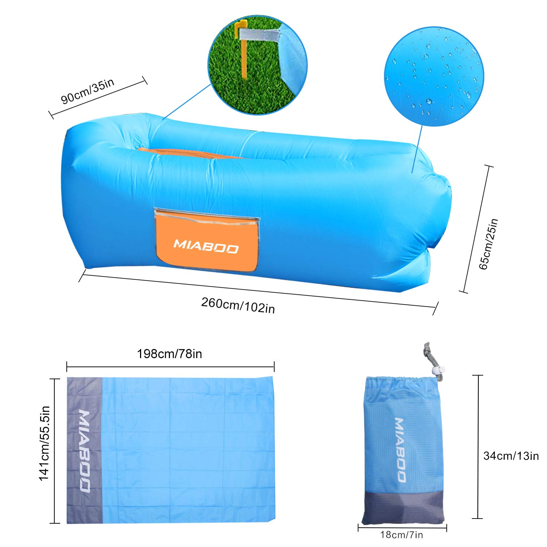 Amazon.com: MIABOO Tumbona inflable con aire acondicionado ...