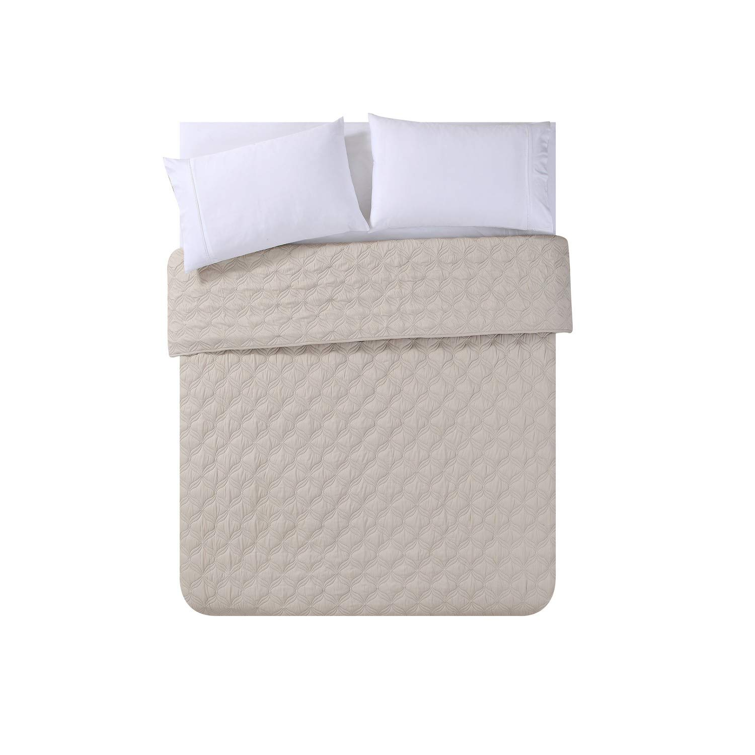 VCNY Home Joyce Embossed Quilted Coverlet King Rose