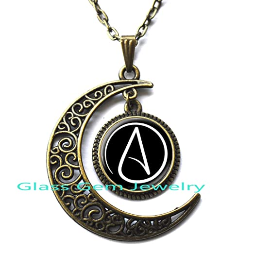 Amazon Atheist Symbol Necklace Atom Pendant Atheist Jewelry