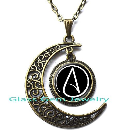 Amazon atheist symbol necklace atom pendant atheist jewelry atheist symbol necklace atom pendant atheist jewelry no religion necklace mens necklace aloadofball Choice Image