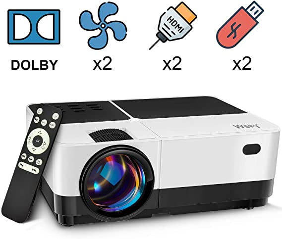 Wsky Video Portable Projector Outdoor Home Theater