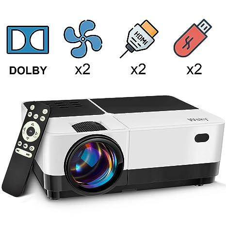 Amazon.com: Wsky 2019 - Proyector de vídeo para cine en casa ...