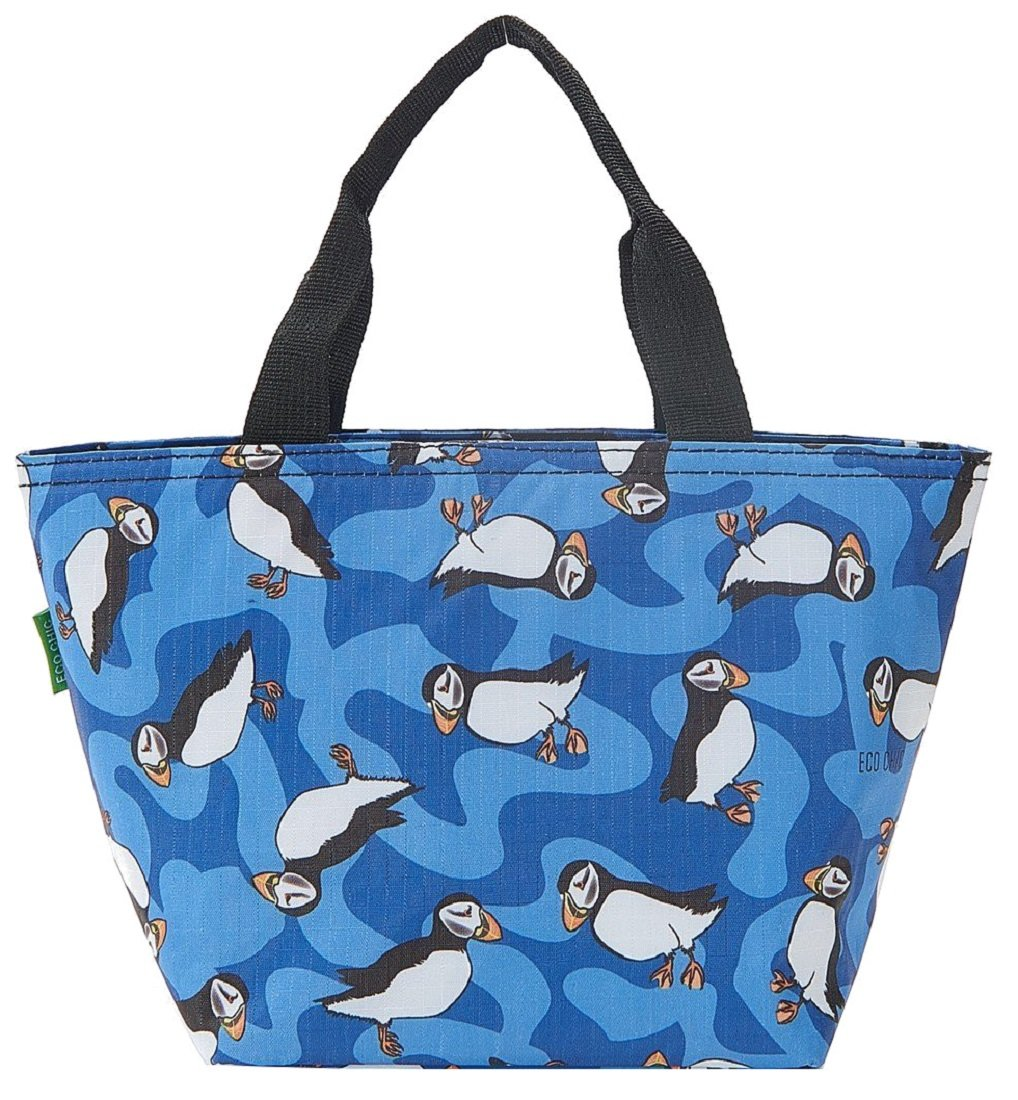 Bees Blue ECO CHIC Lunch Insulated Cool Bag//Cooler Bag//Picnic Bag//Packed Lunch Bag