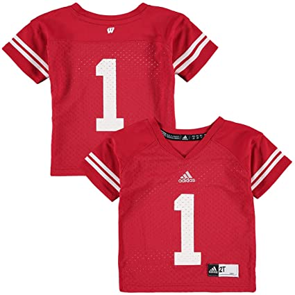 f602aecdba Wisconsin Badgers adidas Toddler Boys  1 Football Jersey - Red (3T)