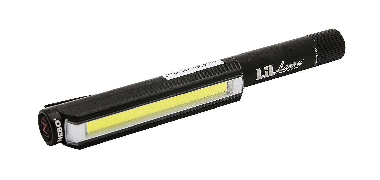 Aluminium schwarz 15 x 2 x 2 cm Rotes Warnblinklicht Nebo LiL Larry Flash-//Work Licht NB6373
