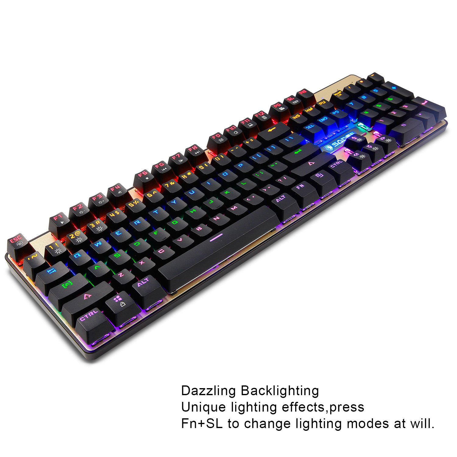 Amazon.com: Mechanical Keyboard and Mouse combo,SADES K10 LED Backlit Wired Gaming Keyboard and Mouse Combo, Mechanical Feel with Mutilmedia Keys and Blue ...