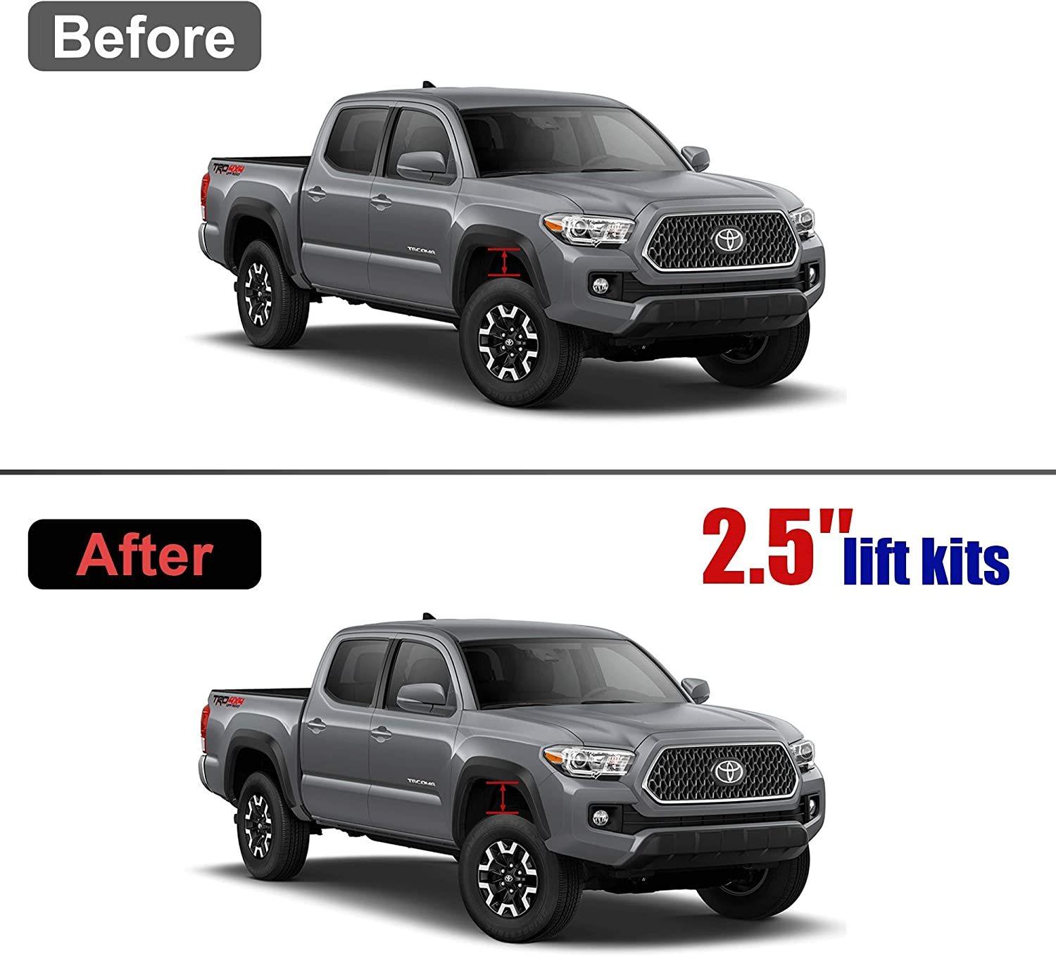 2.5 Front Leveling Lift Kits for 2005-2019 Toyota Tacoma 4WD 2WD,2003-2019 4Runner 2WD 4WD,2007-2015 FJ Curise