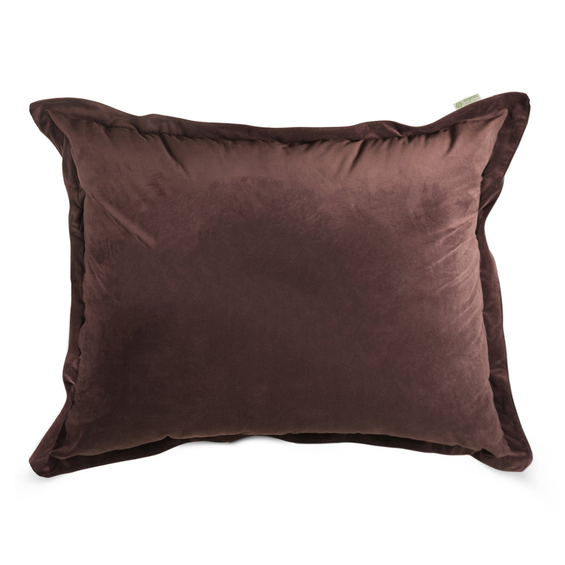 Majestic Home Goods Faux Suede Floor Pillow, Dark Brown by Majestic Home Goods