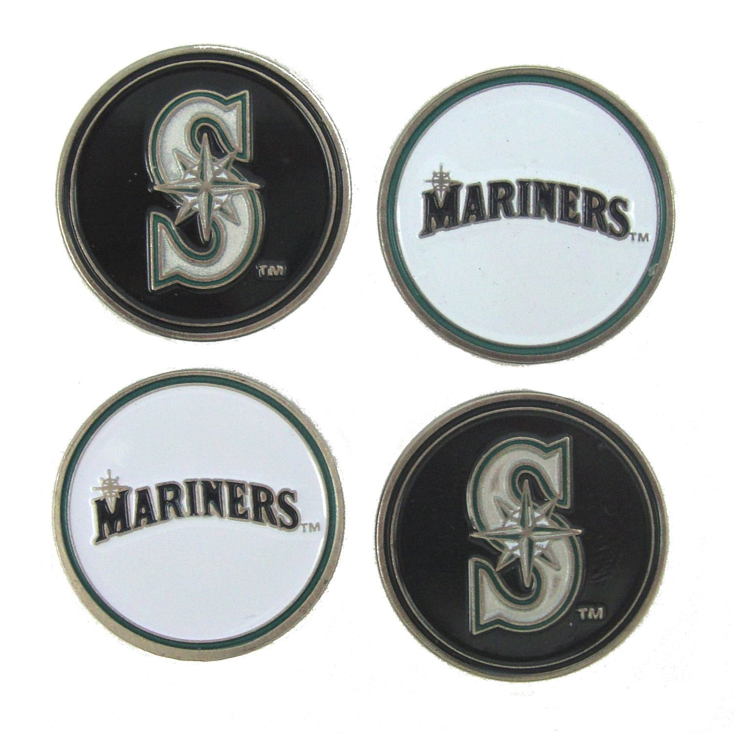 Seattle Mariners Golf Ball Markers ( 4 Pack )   B078G546QH