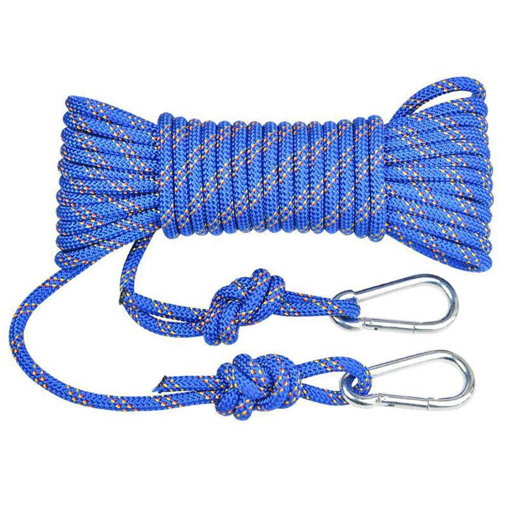 Bleu HANG Corde de Rappel, Corde d'escalade de 8 mm Corde d'escalade de Haute Altitude Corde d'escalade Corde équipement de Survie en Plein air Corde de sécurité antidérapante 20m