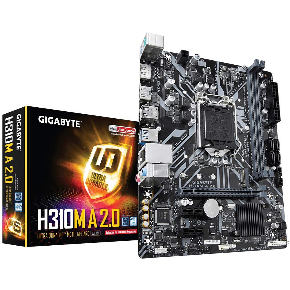 GIGABYTE H310M A 2.0 (LGA1151/ Intel/ H310/ Micro ATX/ DDR4/ HDMI 1.4/ M.2/ Motherboard) by Gigabyte